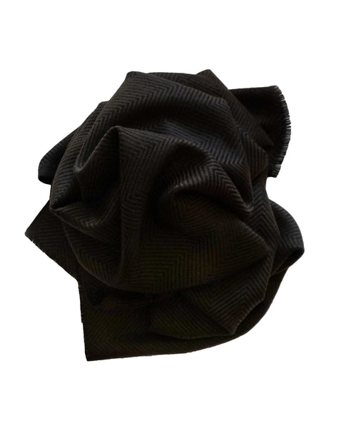 Black and brown handmade chevron woven scarf. A perfect mother's gift - Marie-Pierre Rousseau