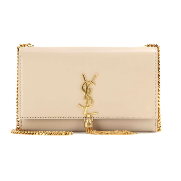 Medium Kate Tassel Chain Bag in Nude Powder Leather ~ Hire From $119
