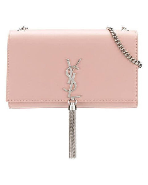 Medium Kate Tassel Chain Bag in Pink Powder Leather ~ Hire From $119