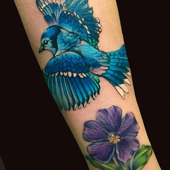 Orion Tattoo Image - Bird and Flower