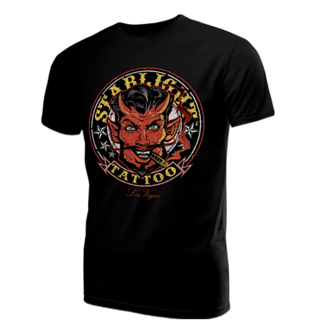 Starlight Tattoo Devil's Run Black Tee