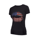 Women's Flag Lips Couture Tee