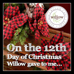 On the 12th Day of Christmas Willow gave to me...