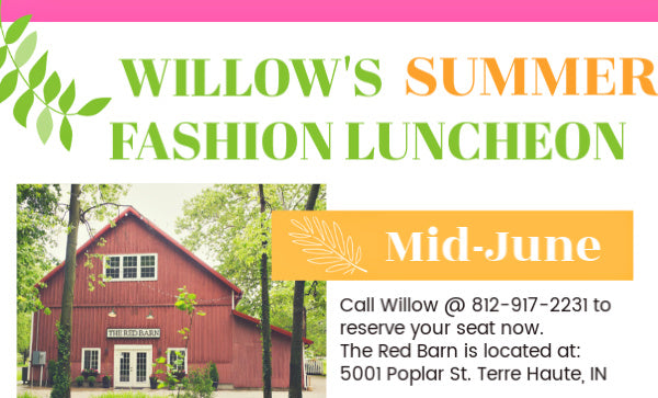 Fashion Luncheon Postponed