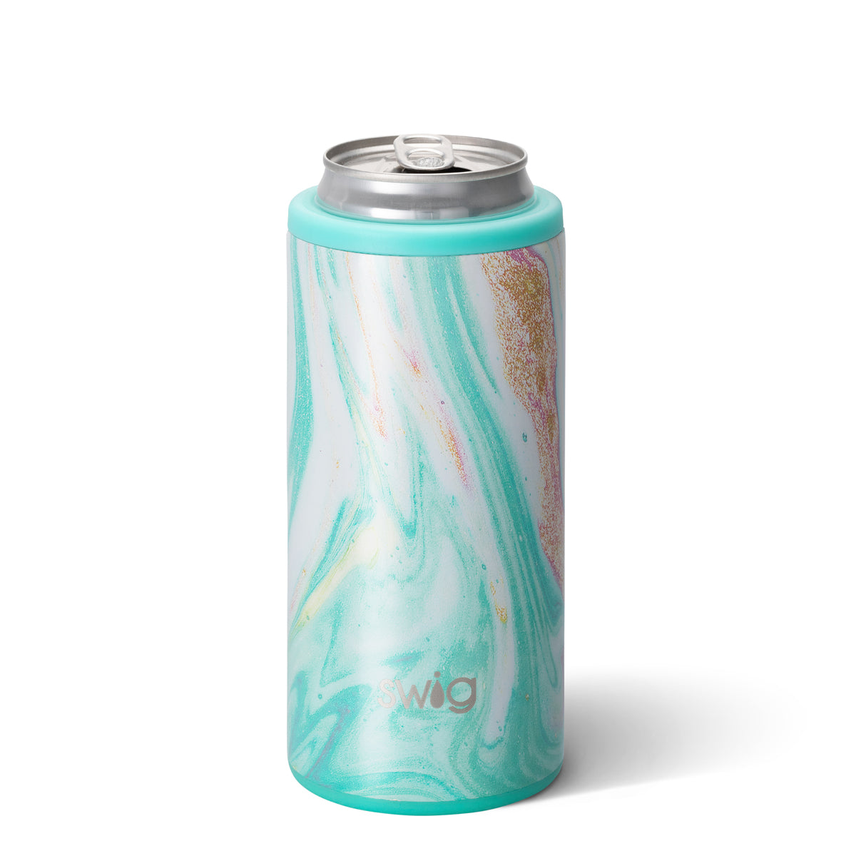 Swig 12 oz. Skinny Can Cooler, Wanderlust Design