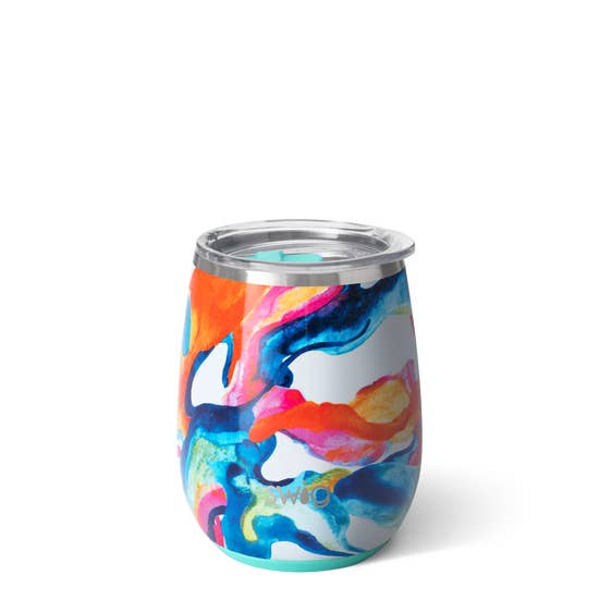 Color Swirl - Swig Life 14 oz. Stemless Wine Tumbler