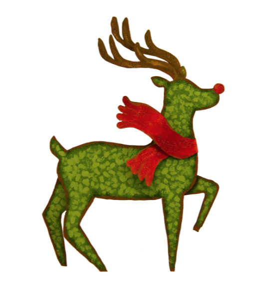 Reindeer with red scarf from The Round Top Collection