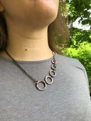 Rings Copper Asymmetrical Necklace