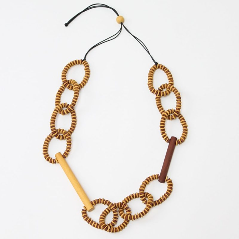 Brown & Mustard Melissa Necklace by Sylca Designs
