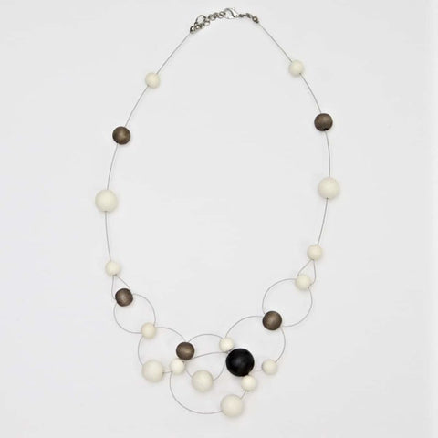 Charcoal & Ivory Cala Necklace by Sylca Designs