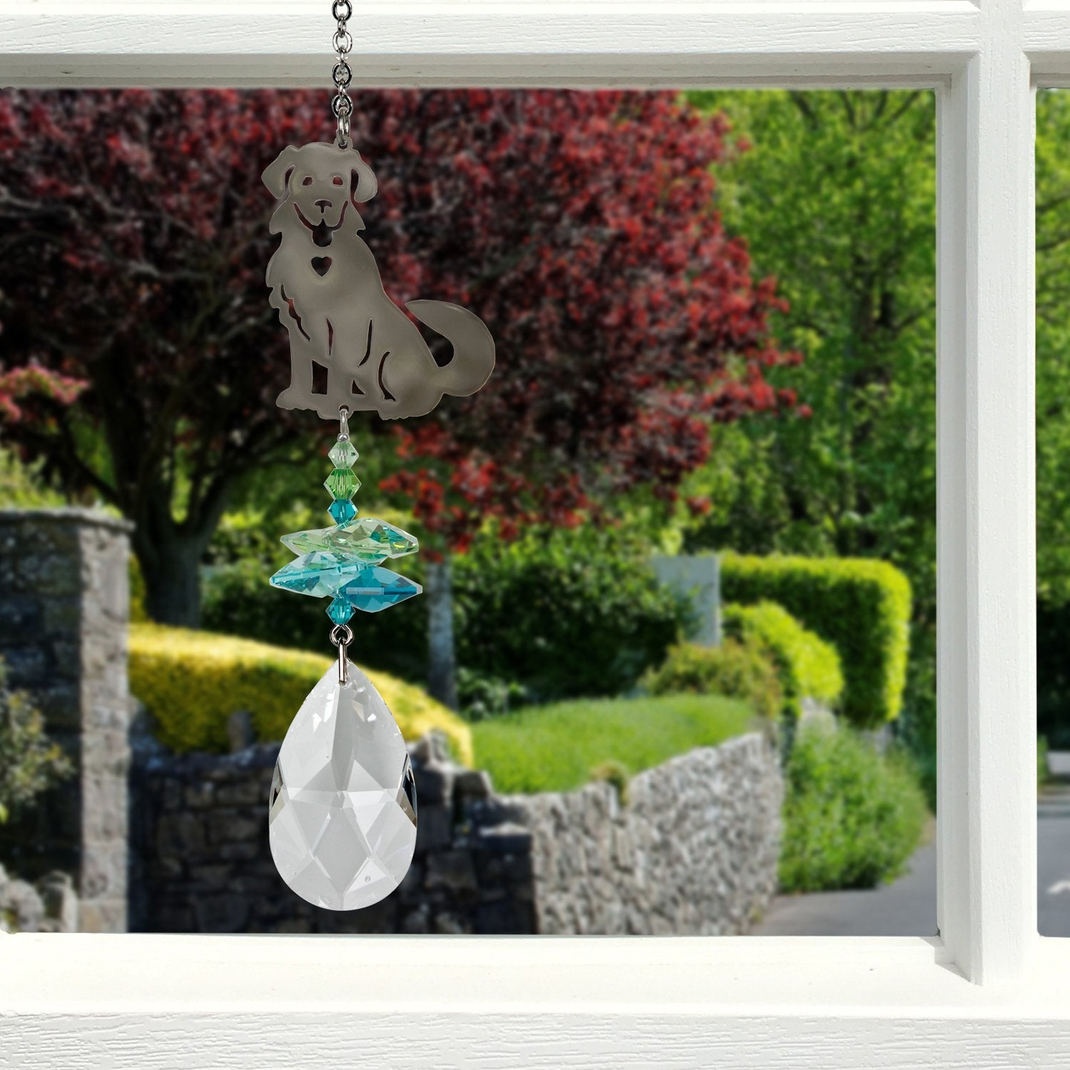 Dog Crystal Fantasy Sun Catcher