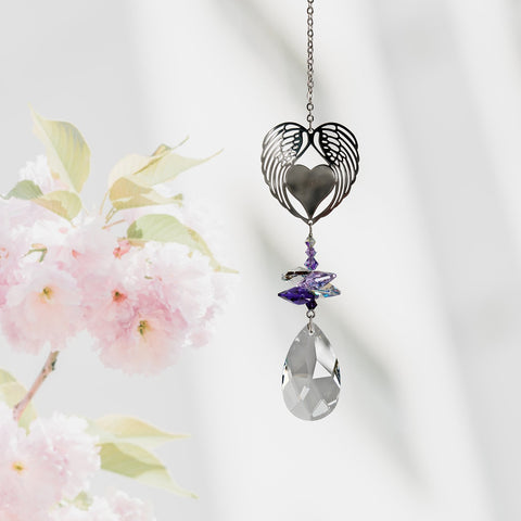 Winged Heart Crystal Fantasy Sun Catcher