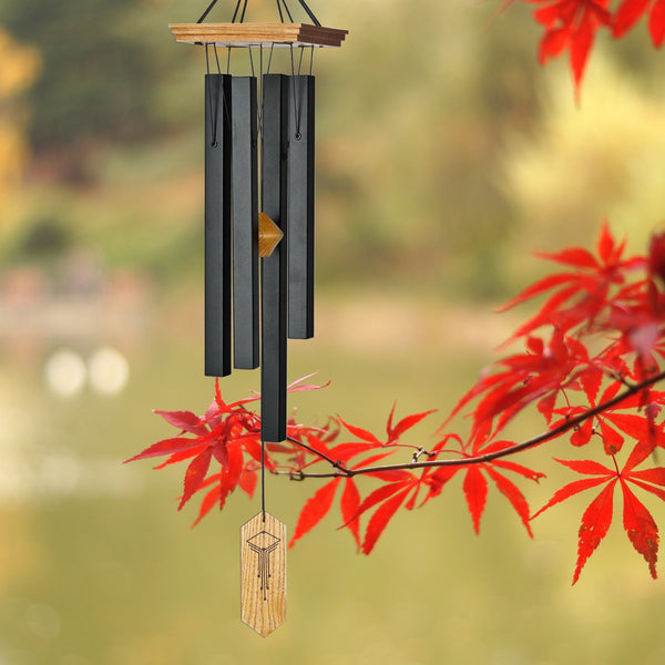 Craftsman Wind Chime is musically tuned to notes derived from the proportion of the Golden Ratio given to us by ancient Greece.