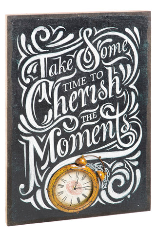 Canvas Clock - Take Some Time to Cherish the Moments