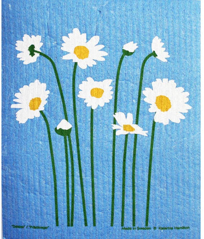 Daisy White Dishcloth