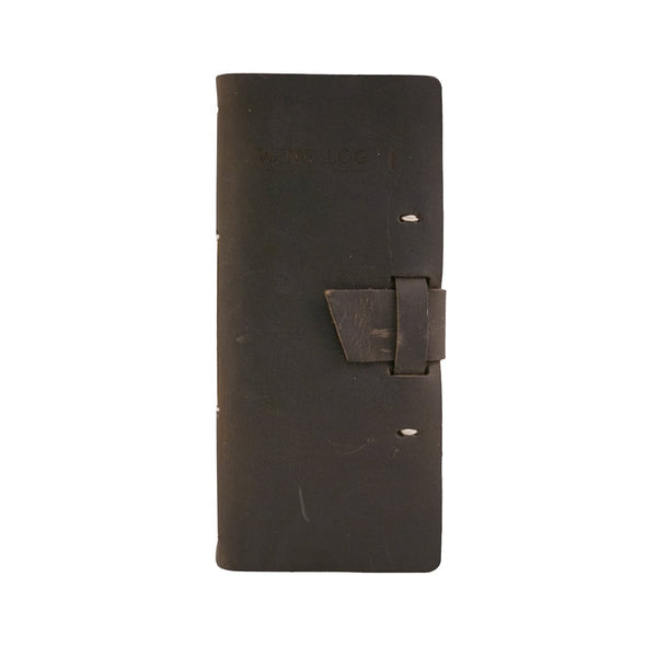 Dark Brown Wine Log Book