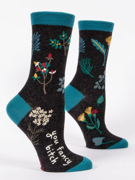 You Fancy Bitch - Women's Crew Socks by Blue Q