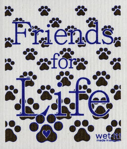 Friends for Life dishcloth