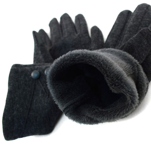 fleece lining in texting gloves