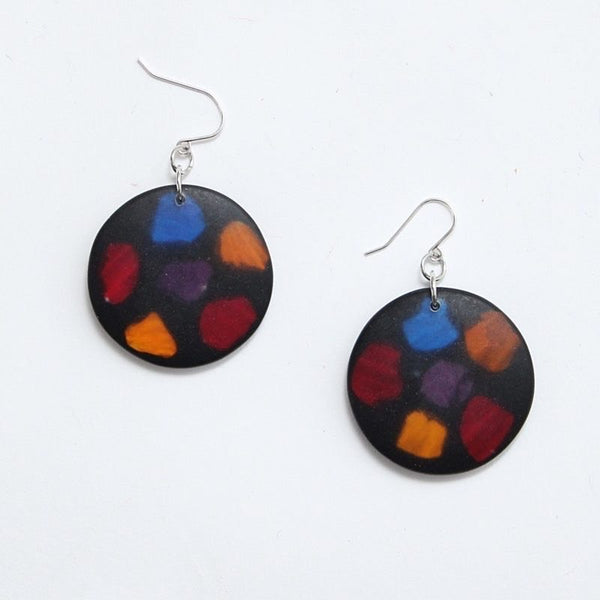 Multicolor Cora Earrings by Sylca Designs