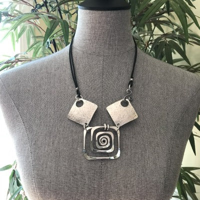 Spiral Square Necklace