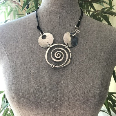 Circle Spiral Necklace variation by Artist Jay