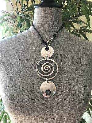 Circle Spiral Necklace