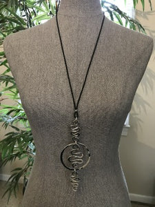 Circle Squiggle Necklace by Artist Jay