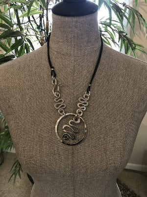 Circle Squiggle Necklace