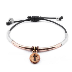 Healing Bracelet with Round Cross Charm