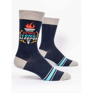 Olympic Long Sleeper - Men's Crew Socks by Blue Q