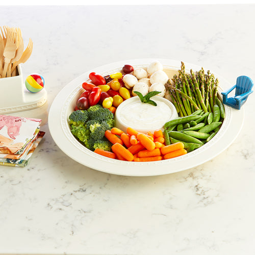 Melamine Chip & dip Server by Nora Fleming