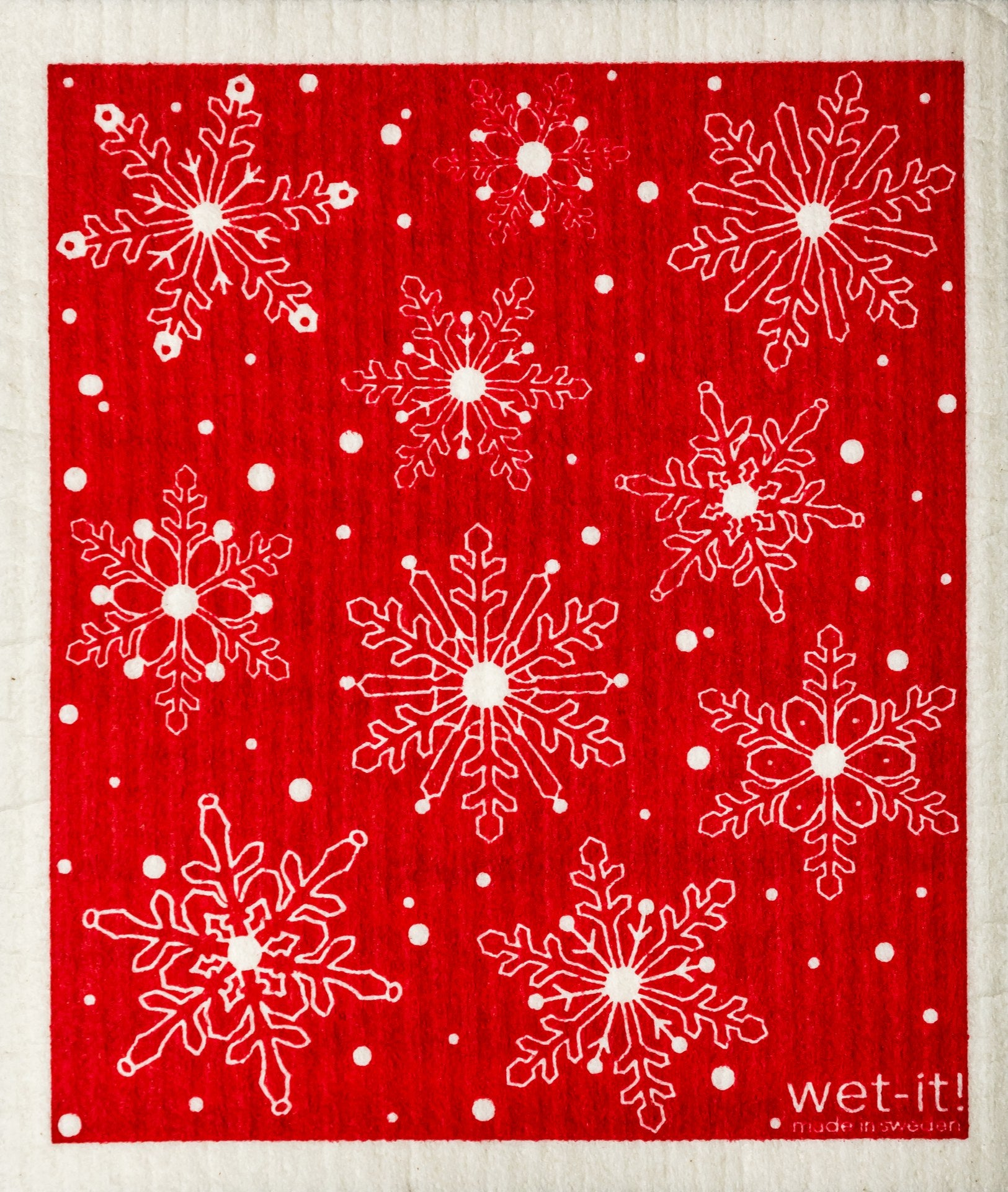 Red Snowflake Hand Towel
