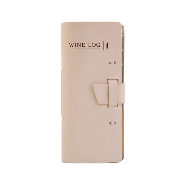 Wine Log Book in Natural leather color