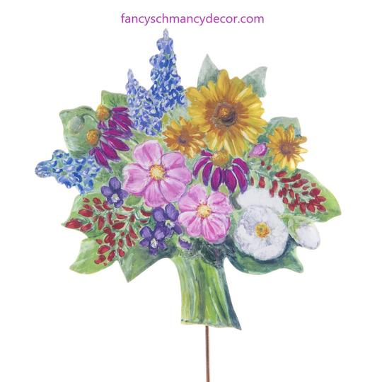 Flower Bouquet Metal garden stake