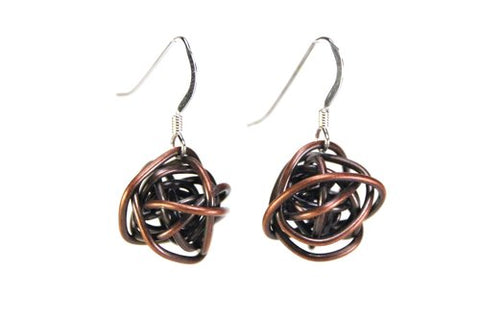 Scribbles Copper Earrings