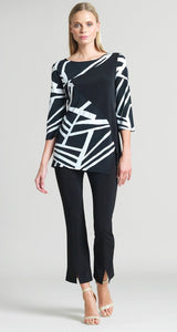 Color Block & Stripe Print Tunic