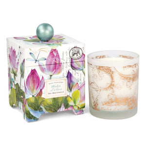 Water Lilies Boxed Soy Candle