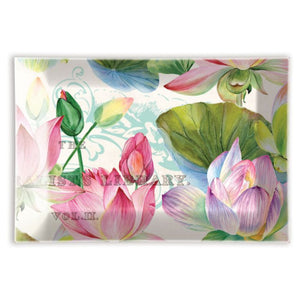 Water Lilies Glass Soap Dish