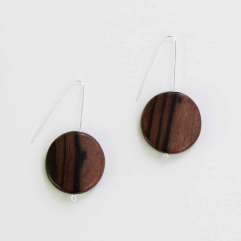 Dark Wood Natural Earrings
