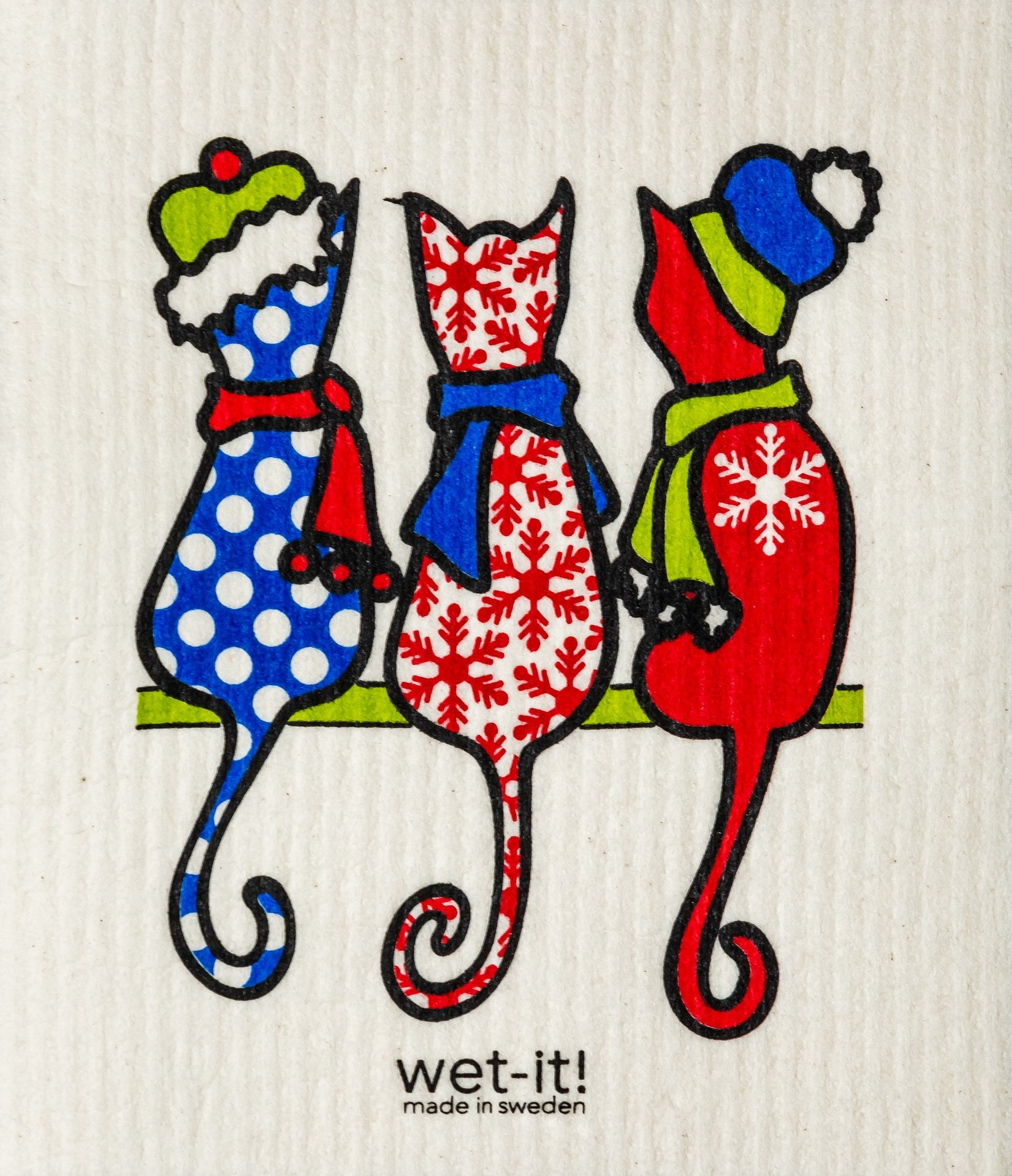 Wet-It! Winter Cats Dishcloth