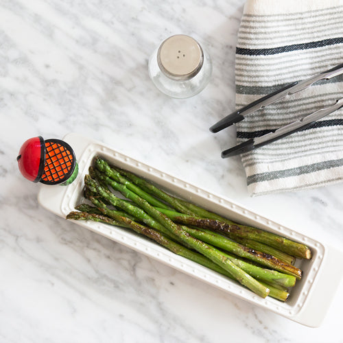 Nora Fleming Cracker Tray with Asparagus
