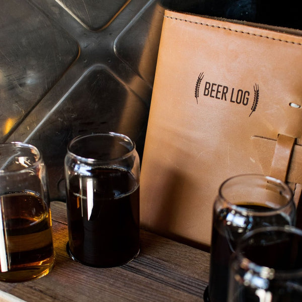 Leather Beer Tasters Log Book