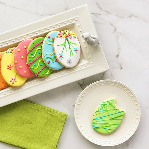 Nora Fleming Bread Tray with Easter Cookies