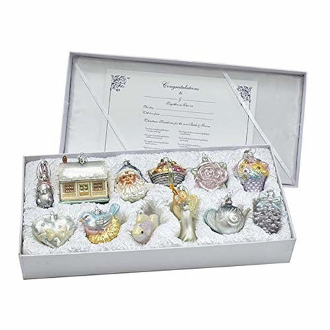 Glass Bride's Tree Ornament Set