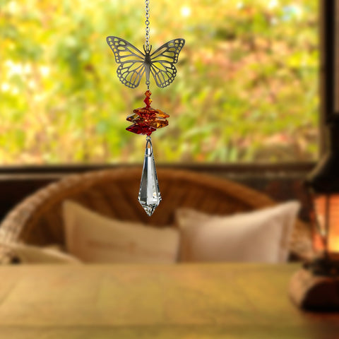 This beautiful Woodstock Chimes Butterfly Suncatcher Works equally well as a sun catcher or Christmas ornament. Hang it in your office or dorm room