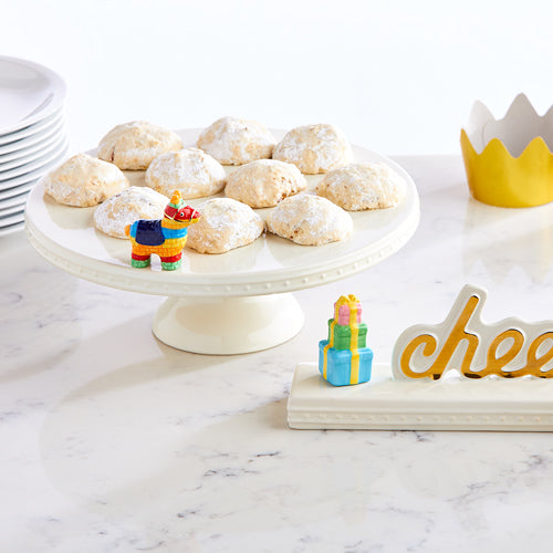 Nora Fleming pedestal server with cookies