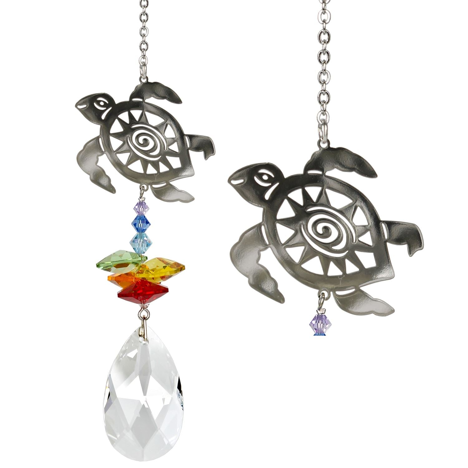 Turtle Crystal Fantasy Sun Catcher