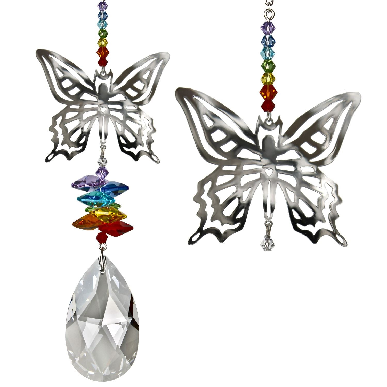Large Butterfly Crystal Fantasy Sun Catcher