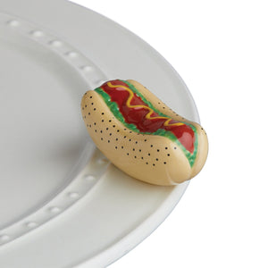 Chicago Dog Hot Dog in a bun Mini by Nora Fleming